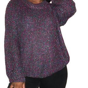 Umgee Metallic Sweater Size Large